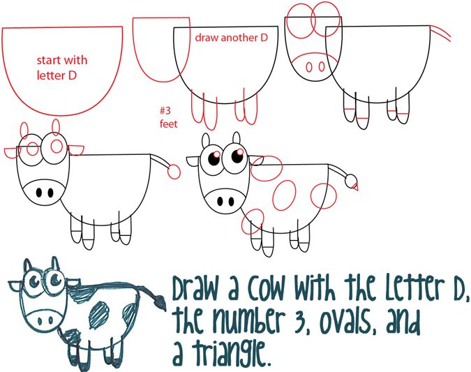 Drawn shapes easy drawing Cartoon Basic on Step How