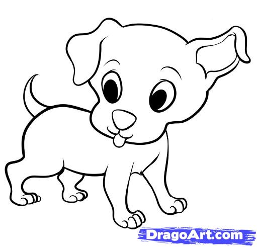 Drawn puppy easy Of Drawings Cute Step Pinterest