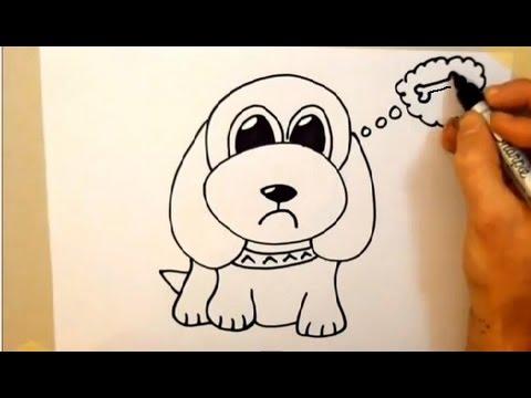 Drawn puppy beginner kid Cartoon 2 minutes minutes dog