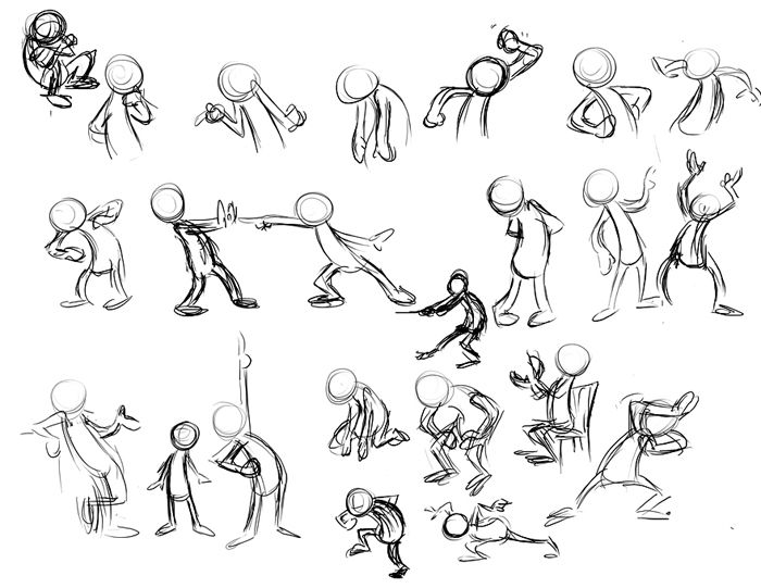 Drawn figurine funny cartoon Body  capturing emotion to