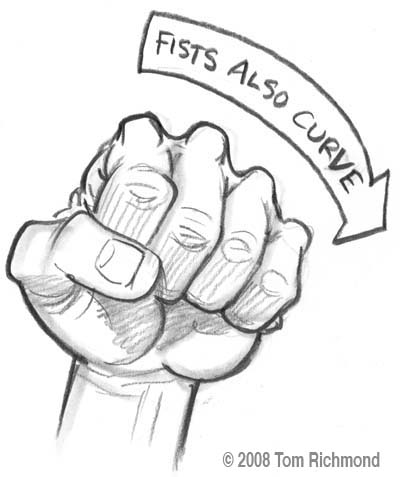 Drawn fist Curve Illustration The Fist of