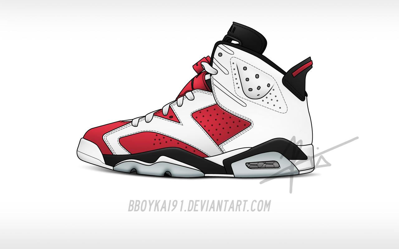 Drawn sneakers logo 6  jordan air drawing