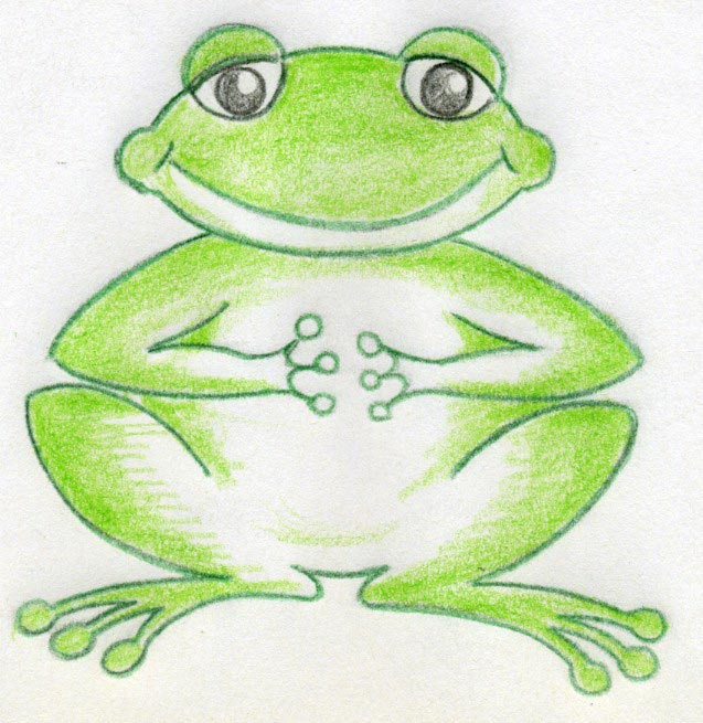 Drawn pencil cartoon Love Frog Are To