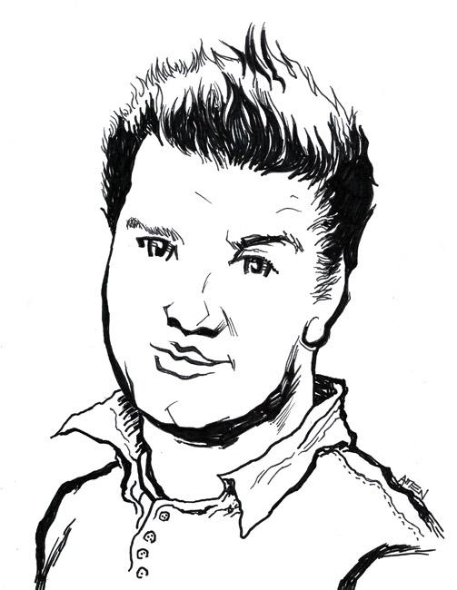 Drawn portrait cartoon A your a cartoon Cartoon