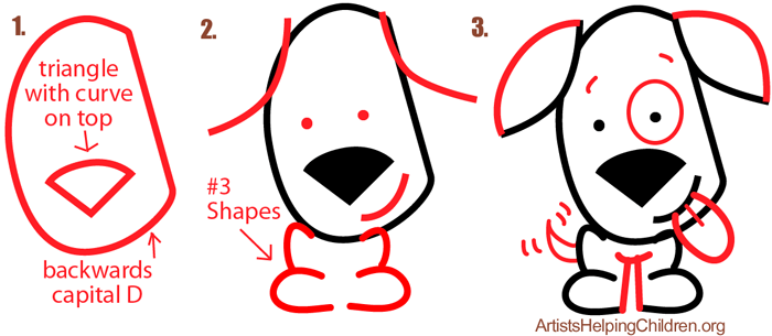 Drawn puppy simple Drawing Basic Ears for Big
