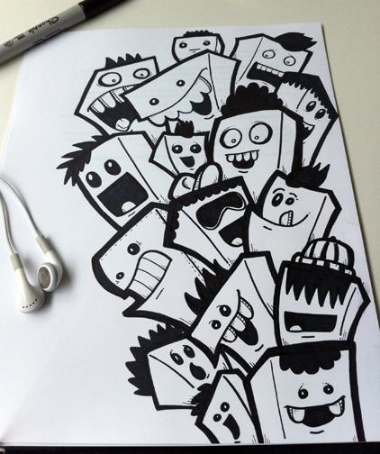 Drawn cartoon sharpie #4