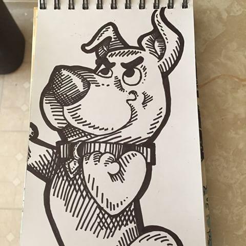 Drawn cartoon sharpie #2