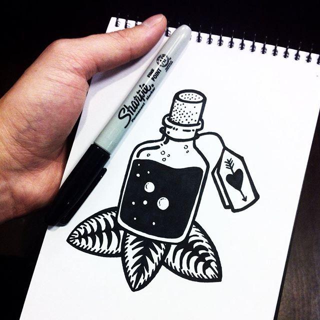 Drawn cartoon sharpie #10