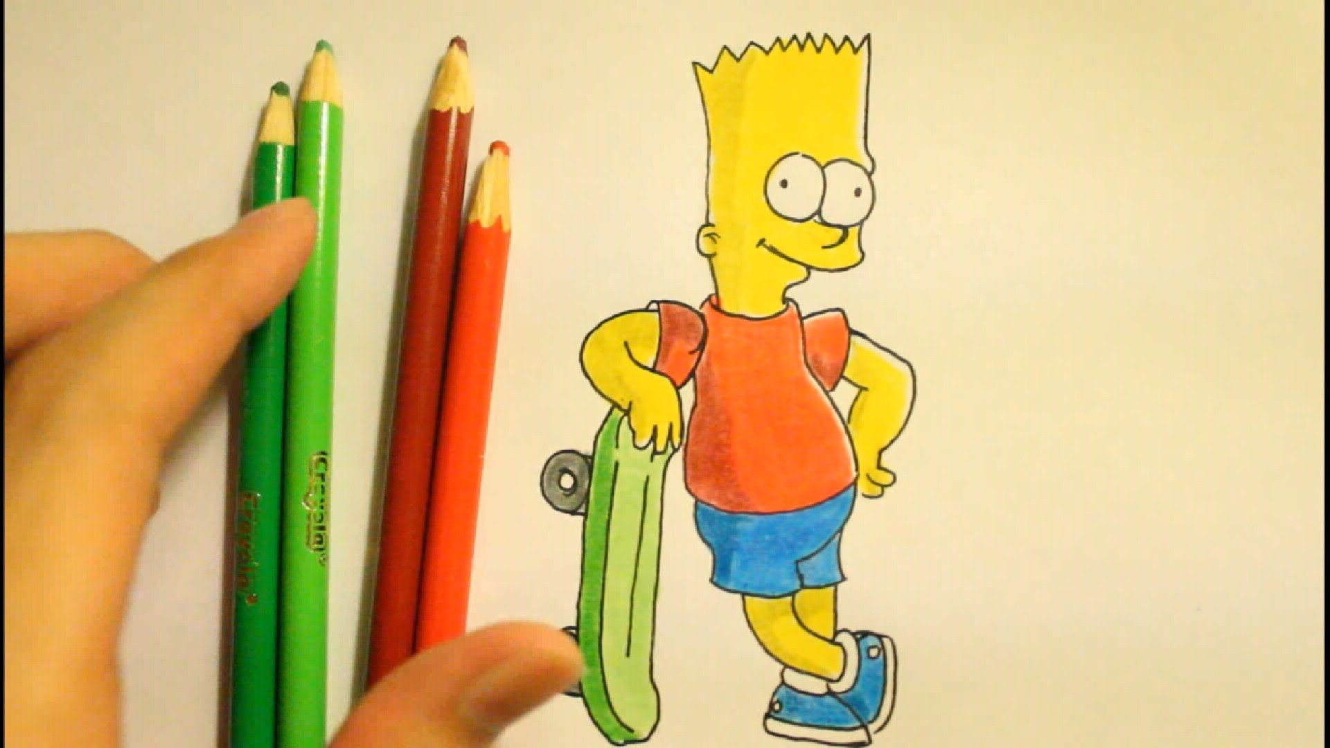 Drawn cartoon simpsons character #7