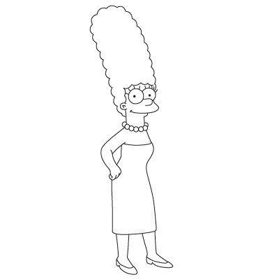 Drawn cartoon simpsons character #6