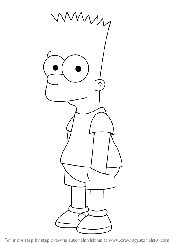 Drawn cartoon simpsons character #10