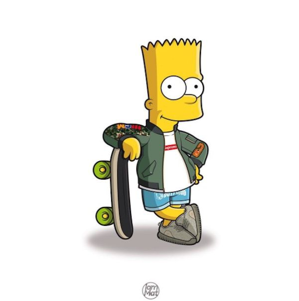 Drawn cartoon simpsons character #8