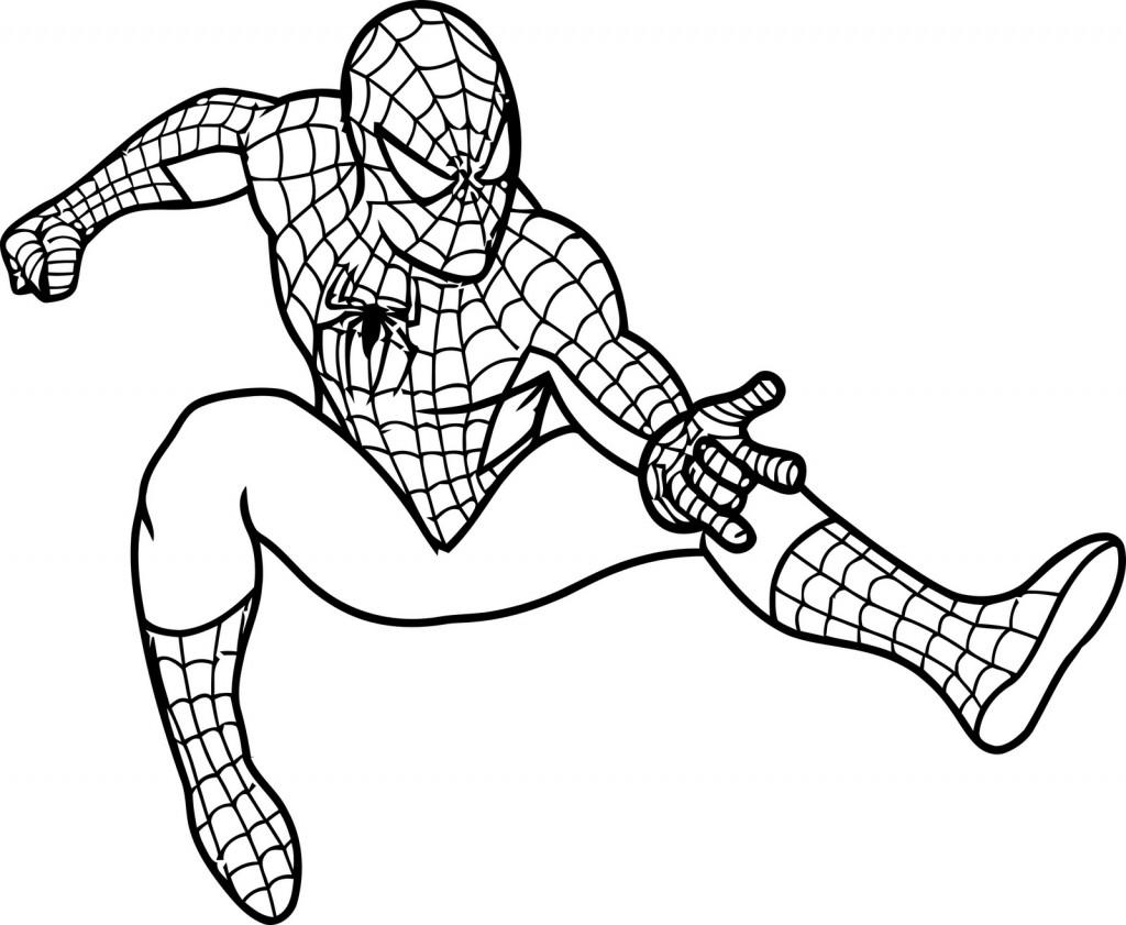 Drawn cartoon spiderman #14