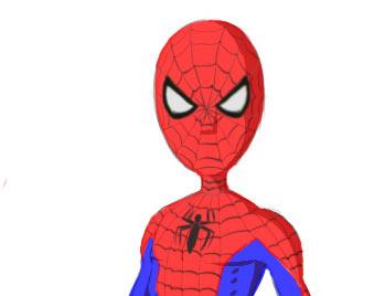 Drawn cartoon spiderman #15
