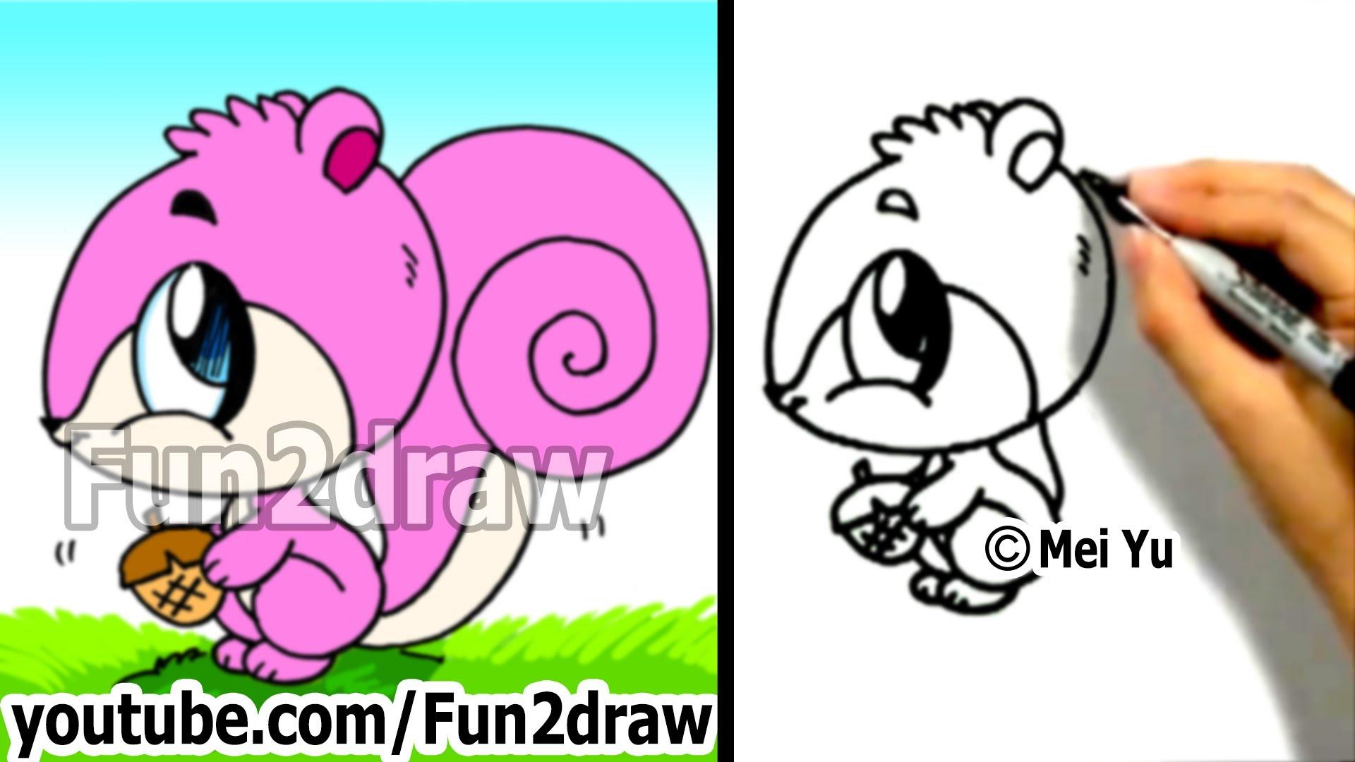 Drawn squirrel interesting animal Step min How Cartoon Draw