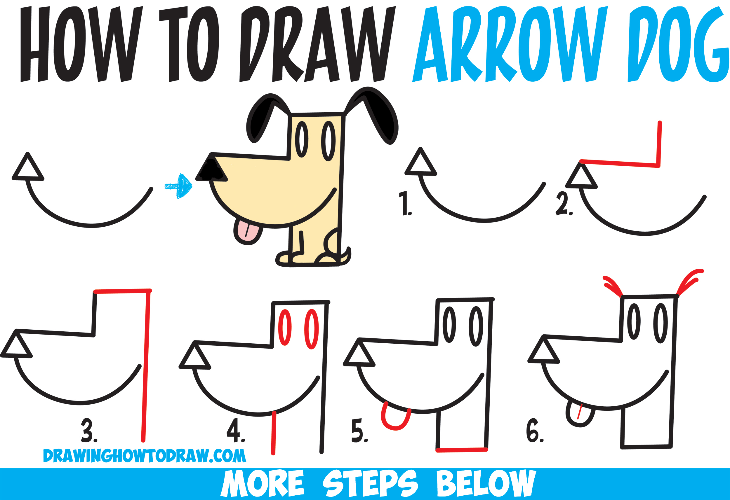 Drawn shapes easy drawing A an from How by