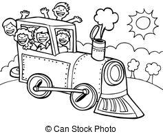 Drawn railroad speeding bullet A Illustration Cartoon 150
