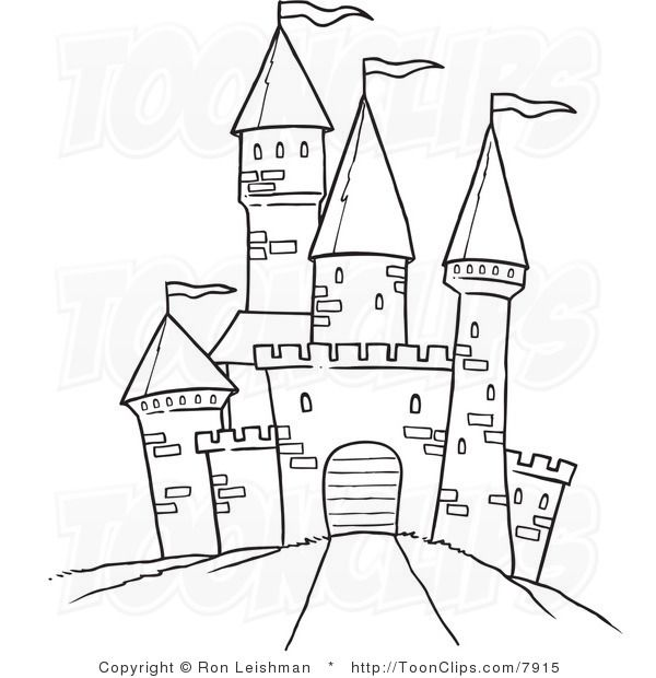 Drawn castle On White Path Best to