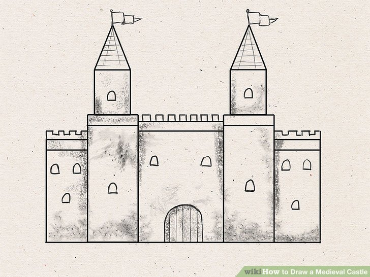 Drawn castle Pictures) Draw 7 Medieval to