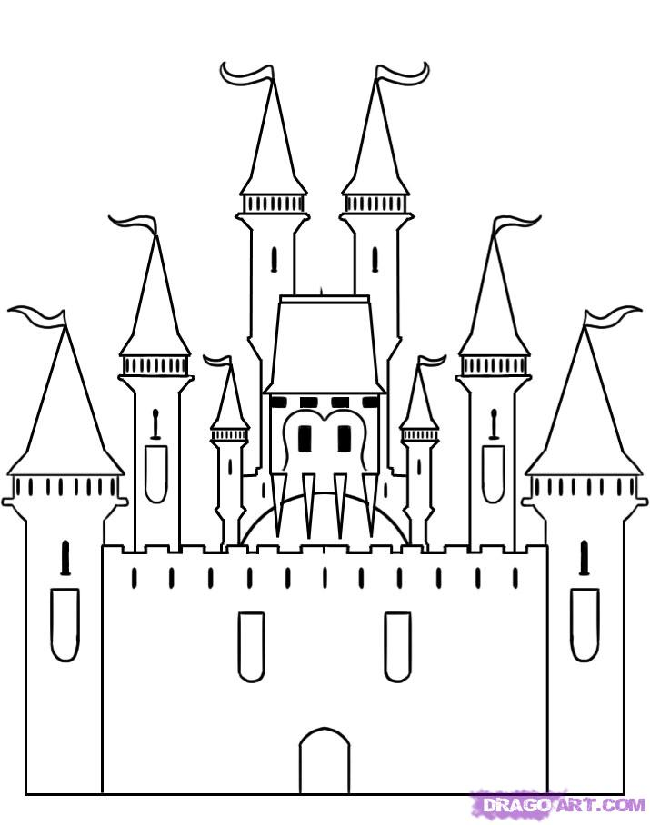 Drawn castle Step step art drawing Pinterest