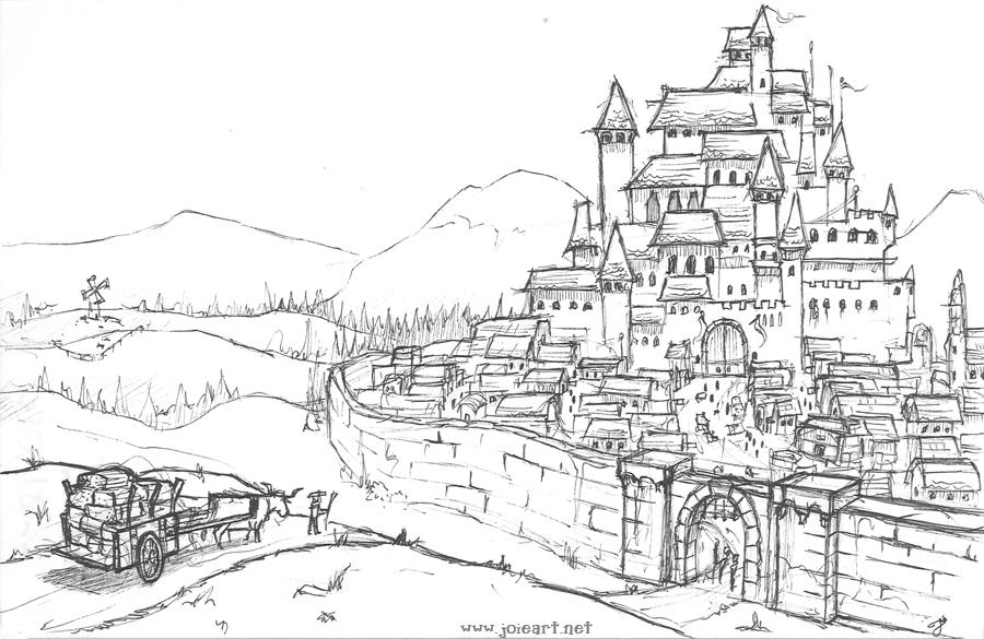 Drawn castle JoieArt DeviantArt Castle by by