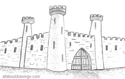 Drawn castle Outline Ancient Castle Drawing Castle