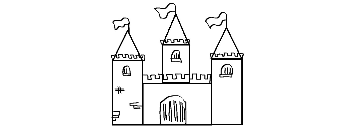 Drawn castle To Drawing a Draw Kids
