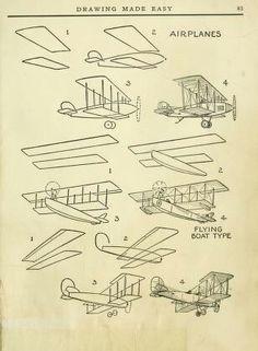 Drawn castle airplane #14