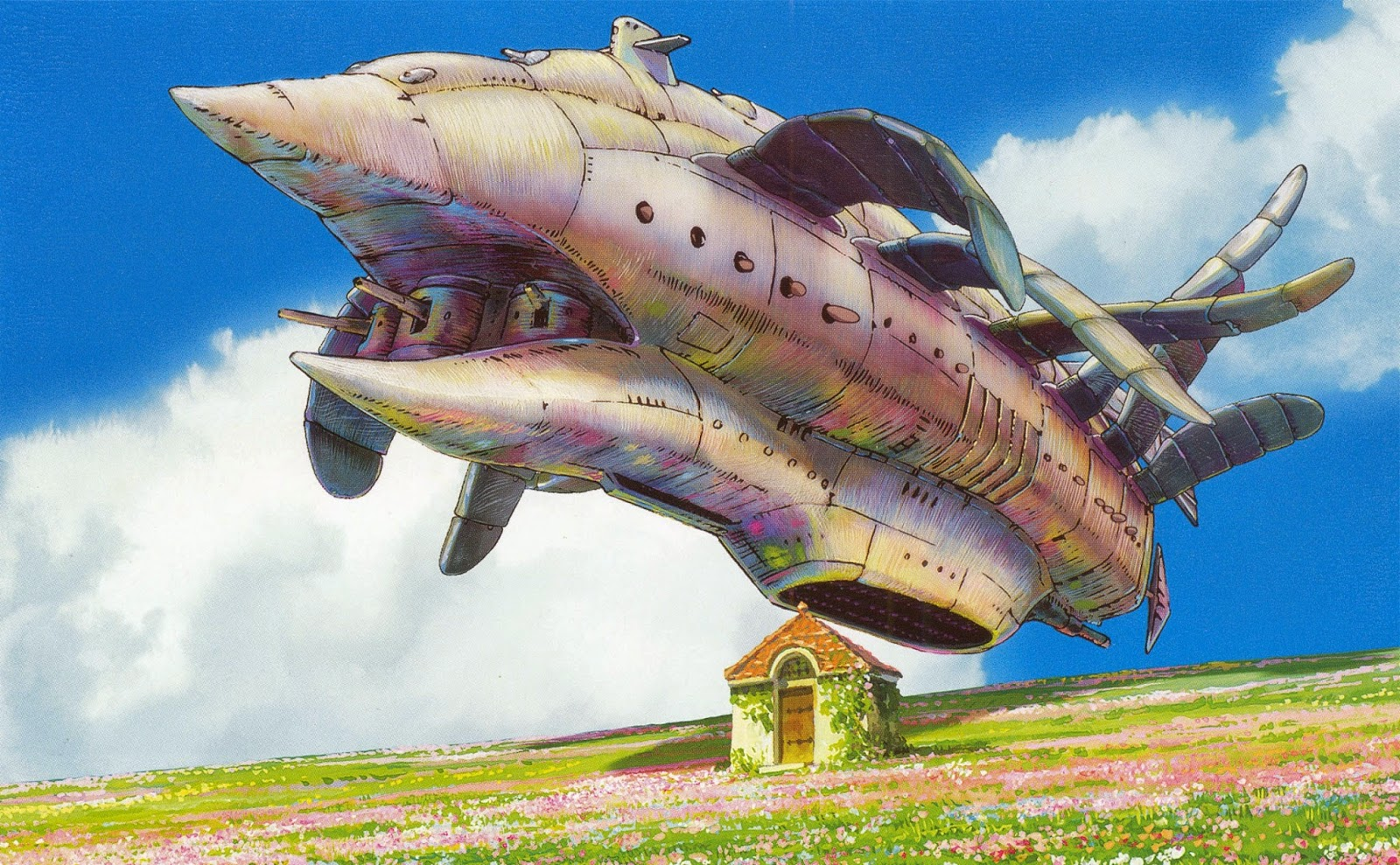 Drawn castle airplane #13