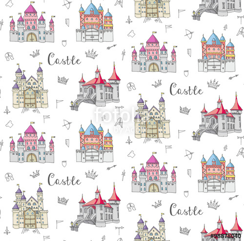 Drawn castle background #5