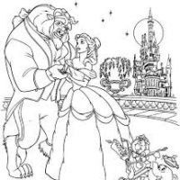 Drawn castle beauty and the beast #2