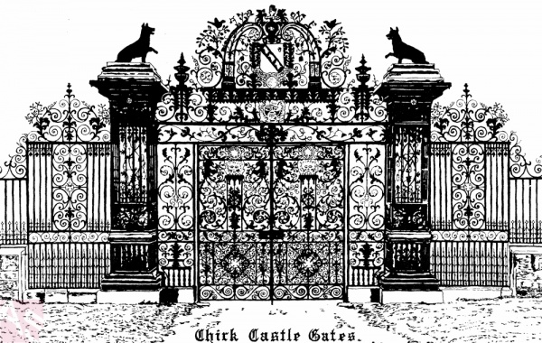 Drawn castle castle gate North Corwen Chirk Chirk and