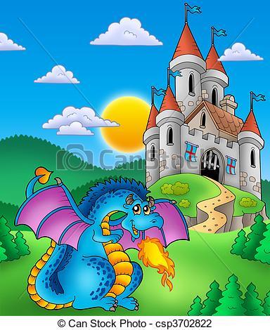 Drawn castle color #2