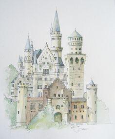 Drawn castle color #5