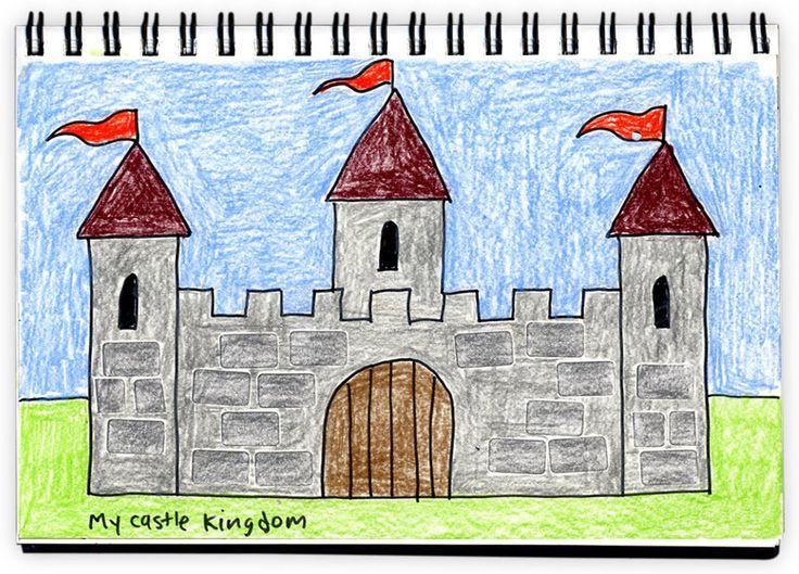 Drawn castle color #3