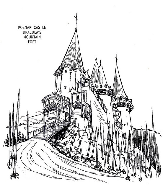 Drawn castle dracula's castle This Bran / and /