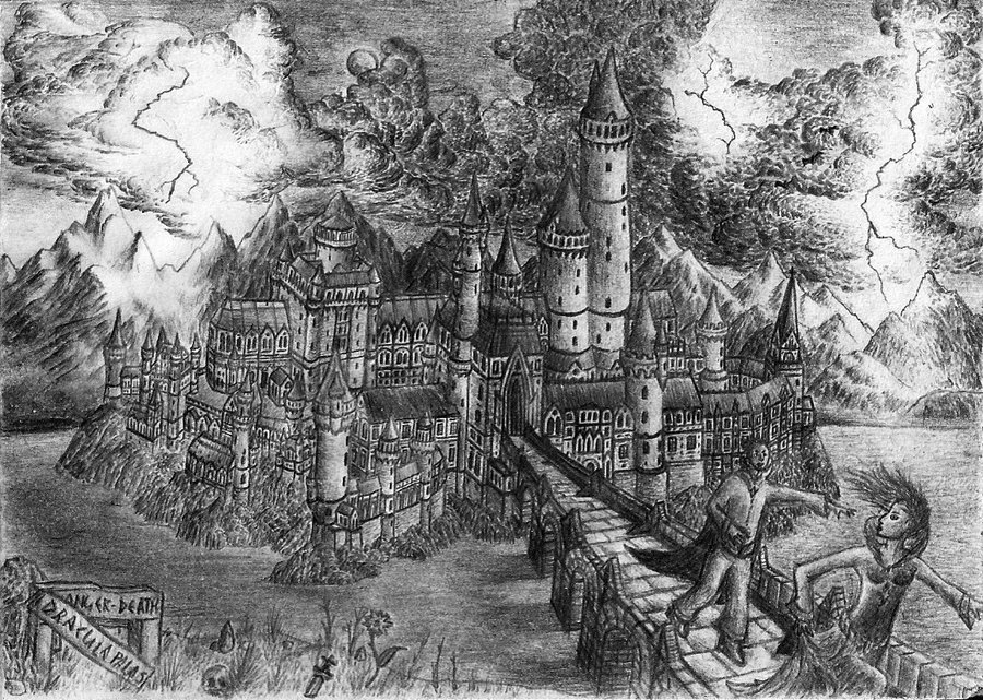 Drawn castle dracula's castle Dracula's by Castle Dracula's andreasAMX7
