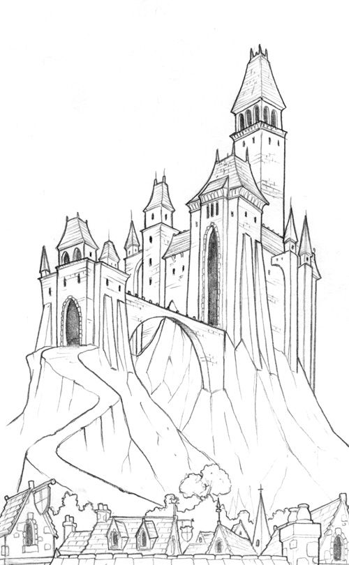 Drawn castle dracula's castle Dracula imposing Monster' a Visual