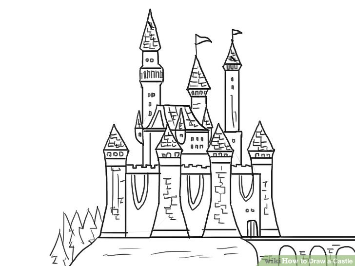 Drawn castle easy #10