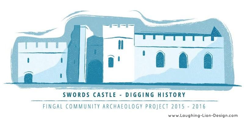 Drawn castle logo #6