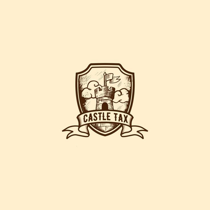 Drawn castle logo #5