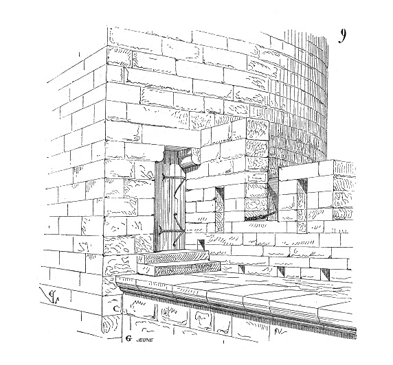 Drawn castle parapet wall Components of Legend Castle Allure/Wall
