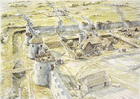 Drawn castle saxon Century unlikely of 10th settlement