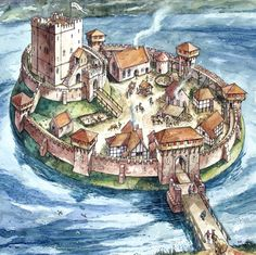 Drawn castle saxon Typical Saxon fortification David a