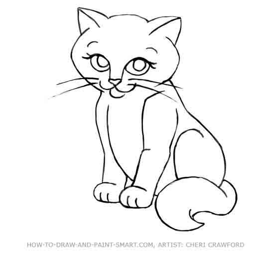 Drawn cat To a 11 Draw How