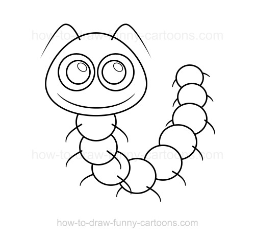 Drawn caterpillar #4