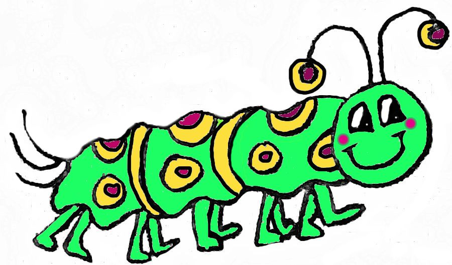 Drawn caterpillar #6