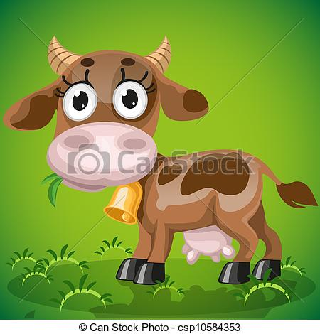 Drawn cattle baby cow #10