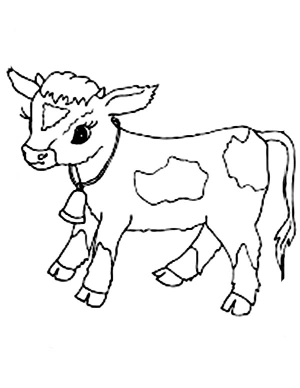 Drawn cattle baby cow #7