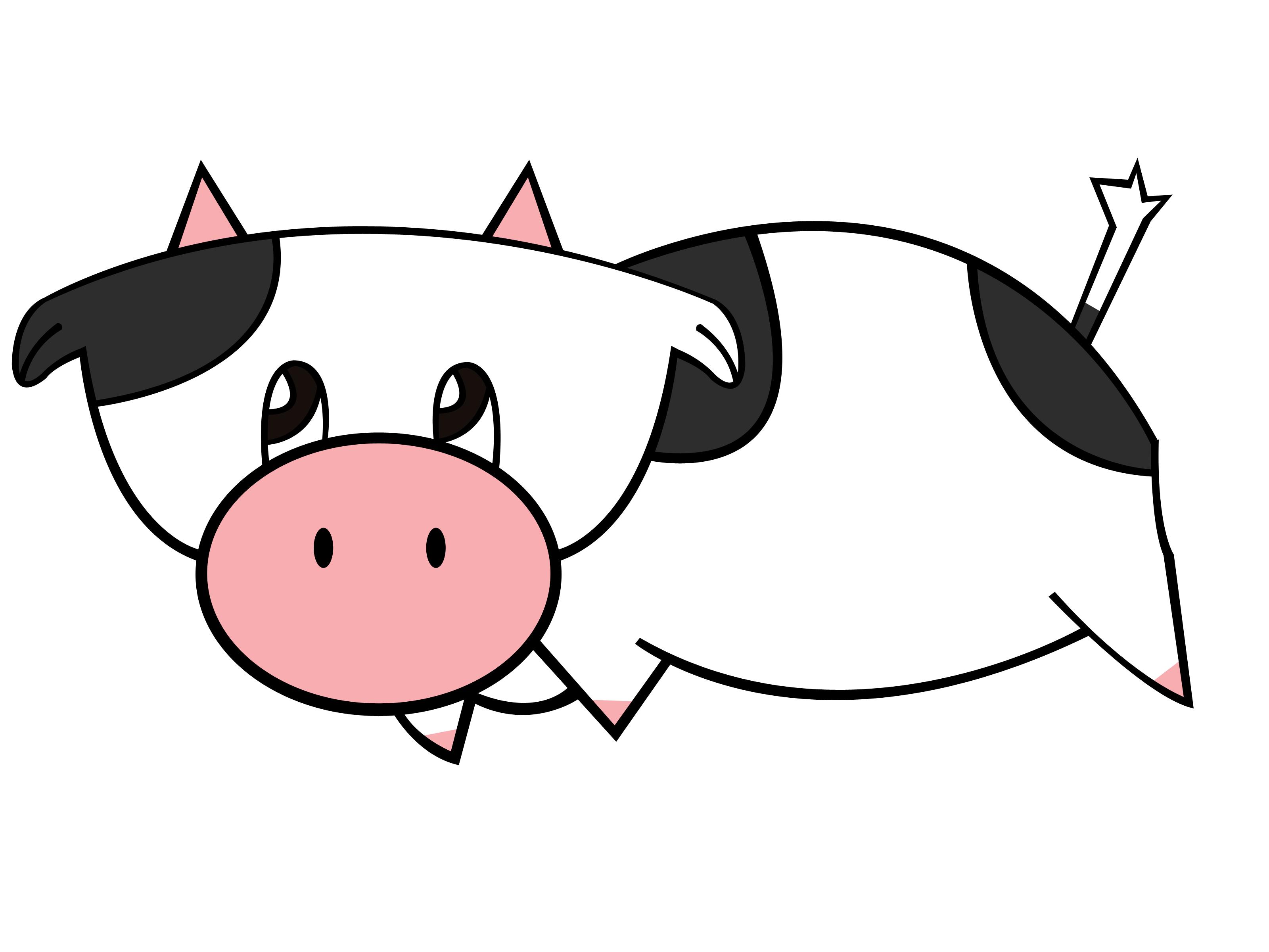 Drawn pig Drawn Cow How Free Clip Free Harvest